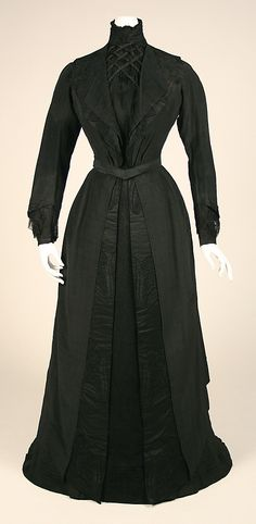 Dress, black, 1902–1