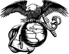 eagle globe and anchor tattoo template - Google Search
