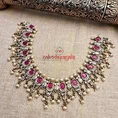 Wedding Jewellery Designs, Gold Jewellery Design, Bridal Jewelry, Silver Jewellery Indian, Silver Jewelry, Silver Anklets, Antique Jewelry, Gold Jewelry Simple, Ethnic Outfits