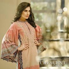 Crescent Lawn 2016 by Faraz Manan is here to beat the heat of this spring & summer season. Spring is back with all its splendor; all its birds, all its blossoms, all its flowers, leaves and grass. It's that time of the year again, Charm; and be Charmed!#CrescentLawn #2016Collection #FarazManan #fashion #summerlawn