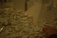 Lego pyramid at Dunedin Public Art Gallery