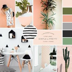 Learn to Design Your Own Blog Start with a simple and pretty mood board.