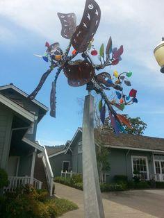 Metal & Glass Kinetic Sculpture,  Napa, CA