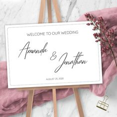 Welcome to our Wedding Sign Wedding Welcome Sign Template, Modern Wedding, Minimalist Wedding Template Bridal Shower Welcome Sign, Welcome To Our Wedding, Sign Templates, Wedding Templates, Wedding Signs, Diy Wedding, Diy Signs, Minimalist Wedding, Save The Date Cards