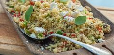 Couscous With Honey & Goat Cheese recipe Jambalaya, Vegetarian Couscous Recipe, I Love Food, Good Food, Indian Food Recipes, Healthy Recipes, Healthy Foods, Easy Recipes, Goat Cheese Recipes