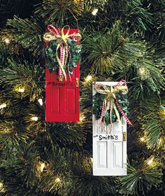 front door ornament - love this!! $4.95 for set