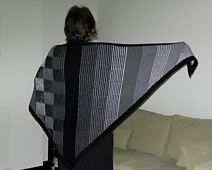I LOVE the effect of this! Definitely a WantWant!    Illustriation Shawl by Steve Plummer