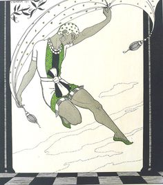 "Georges Barbier, hand-coloured pochoir print from ""Dessins sur les Danses de Vaslav Nijinsky"" (1913)"