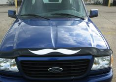 HUGE Mustache 2x Decal Sticker For Truck Bug Guard by Robot1001001. $17.99, via Etsy.