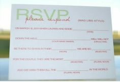 What a great idea for a RSVP!!