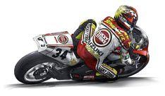 Valentino Rossi 46, Vr46, Suzuki Gsx, Cars And Motorcycles, Comic Art, Racing, Bike, Design, Pixel Art