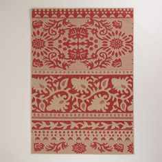 One of my favorite discoveries at WorldMarket.com: 5'x7' Red Ban Thai Indoor-Outdoor Rug