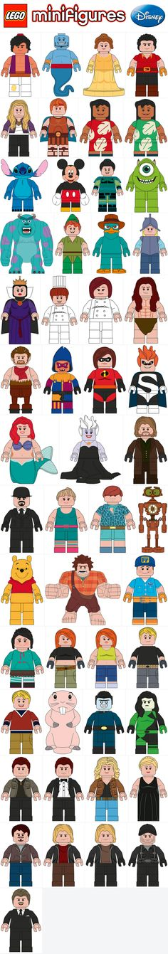 LEGO Disney Minifigures Coming 2016! Disney Minifigures fab2c68107