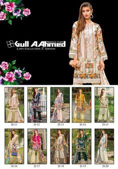 Gul Ahmed Vol 2 Printed Pure Lawn Cotton Pakistani Dress Material Dealer Surat - Tathastu Wholesale Pakistani Dresses Online, Indian Dresses, Pakistani Lawn Suits, Suit Shop, D 20, Indian Ethnic Wear, Wholesale Fashion, Indian Sarees, Affordable Fashion