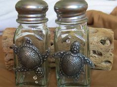 I have had so much fun making these S&P Shakers! I am hoping you love them as much as I do! 2oz Glass Shaker Set Metal Turtles Clear