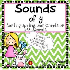 That little ol' y can be a real challenge to beginning readers. This unit will help them focus on the 3 sounds Y can make. There is a sorting task (with other options included in the directions page), an identification task, spelling cards with optional letter cards, and worksheets that can be used for practice or assessment.