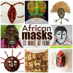 Marie's Pastiche: Traditional Masks of West Africa | With roundup of masks you can make at home
