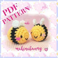 PDF PATTERN Tiny Bee, Adorable bee plush, crochet bee, kawaii amigurumi bee, cute bee amigurumi, crochet bee keychain, plush bee PDF Pattern