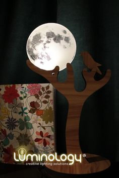Do you want to light up your room in a unique way? . . Well, then our - Moon bird - #lamp is for you 🌕 Enjoy the brightness of the #moon every day. . . All our designs 👉 #luminologystudio . Moon Lovers, Lighting Solutions, Most Romantic, Lamp Design, Discover Yourself, Laser Engraving, Light Up, Illusions, Gift Ideas