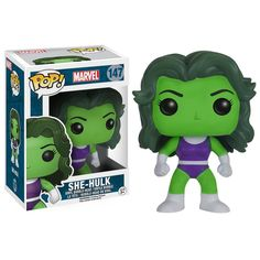 This is the Marvel She-Hulk POP Vinyl figure that is produced by the kind folks over at Funko. Marvel fans are sure to be stoke on seeing the She-Hulk in her Funko POP Vinyl style. She-Hulk look great