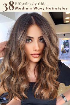 Medium Hair Cuts, Medium Hair Styles, Curly Hair Styles, Medium Length Curled Hairstyles, Haircut Wavy Hair, Curls For Medium Length Hair, Curled Hairstyles For Medium Hair, Medium Curls, Haircut Medium
