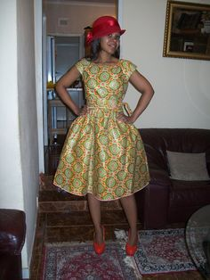 African Print Dress by ForeverFaith Couture