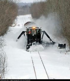 RailPictures.Net Photo: 5843, 9014 Canadian Pacific Railway EMD SD40-2 at St-Edouard, Quebec, Canada by Frank Jolin/Railfan60. Plow Extra 5843 South with CP Jordan Spreader 402883, clears snow drifts on the Lacolle Sub.