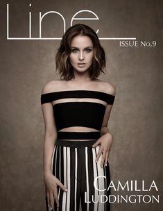 Camilla Luddington Wears Stripes for Line Magazine