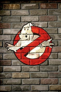 Ghostbusters logo on bricks Ghostbusters Party, The Real Ghostbusters, Ghost Busters, Cartoon Wallpaper, Classic Movies, Cartoon Art, Comic Art, Comic Books, Graffiti
