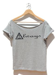 FREE SHIPPING- Always Harry Potter off the shoulder womens t shirt raw neckline Deathly hallows Hogwarts Ron Weasley Magic wand By FavoriTee by FavoriTee on Etsy https://www.etsy.com/listing/225520967/free-shipping-always-harry-potter-off