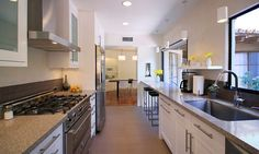 Closed Galley Kitchen | What is a Closed Kitchen? | Pros and Cons of a Closed Kitchen | Tips for a Closed Kitchen | For help determining which style suits you best, our Kitchen Cabinet Kings staff is here to assist you from start to finish.