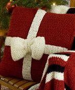 Free Crochet Designs: 10 Home Decor Christmas Crochet Patterns: Presents Crochet Pillows