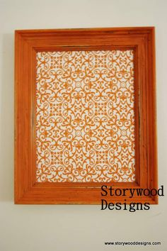 Fabric Covered Bulletin Board by furniturebystorywood on Etsy, $50.00