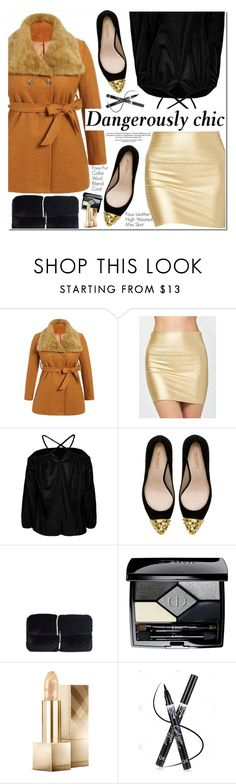 """""""Dangerously Chic"""" by oshint ❤ liked on Polyvore featuring Zara, Christian Dior, Burberry, awesome, amazing, fabulous, wonderful and twinkledeals"""