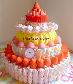 Tartas de chuches espectaculares para celebraciones infantiles