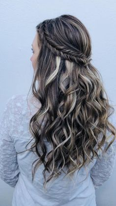 Lazy Girl Hairstyles, Formal Hairstyles For Long Hair, Ball Hairstyles, Wedding Guest Hairstyles, Hair Down Hairstyles, Princess Hairstyles, Hair Updo, Hairstyles For School, Cute Hairstyles