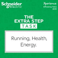 '#TheExtraStep' is here! Hurry get the advantage by connecting the following in a sentence! The words - Running, Health, Energy