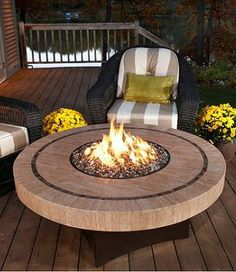Spend your evening entertaining outdoors while sitting around the Oriflamme Sahara Fire Table.