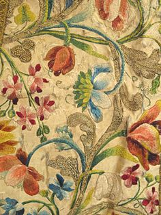 18th century silk embroidery