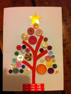 Children's handmade Christmas tree card