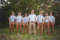 Groomsmen's shirts, suspenders + Ties via H, Groomsmen's pants via Zara - Vancouver Island Wedding from Rebecca Amber Photography