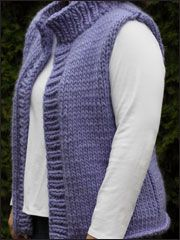 Beginner Knitting Patterns - Plus Size Winter Vest -- wonder if this can be made on a knitting loom -- might want to learn how to knit with traditional needles, I really like this sweater vest. Baby Boy Knitting Patterns, Knitting Designs, Knit Patterns, Crochet Woman, Knit Crochet, Crochet Vests, Plus Size Vests, Knit Vest Pattern, Plus Size Patterns