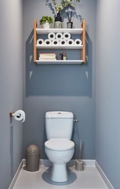 small bathroom designs and ideas 22 - censiblehome Small Toilet Decor, Small Downstairs Toilet, Toilet Room Decor, Small Toilet Room, Downstairs Bathroom, Diy Bathroom Decor, Bathroom Furniture, Bathroom Ideas, Rustic Furniture