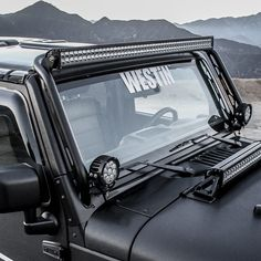 NEW PRODUCT announcement! Westin's Snyper Overhead LED Light Hoop is an easy to install method for mounting a 50 inch LED Bar on the 07-17 Jeep Wrangler JK above the windshield and has built-in auxiliary light mounting points at the lower pillar location. Made of a 1.5 inch diameter 14 gauge steel round tube with a textured powder coated finish that frames the windshield area and curves overhead.