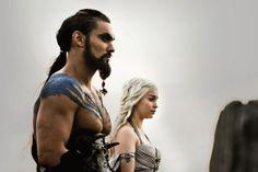 "Khal and Khaleesi<3  ""You are the moon of my life""   ""My sun and stars""    ""Yer jalan atthirari anni""  ""Shekh ma sheiraki anni"""