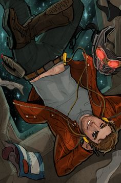 Star Lord, chilling his way through Secret Wars. Peter Quill needs no gravity, Peter Quill wants no gravity!