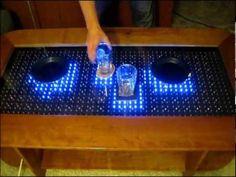 Reactive LED Coffee Table - Arduino - YouTube