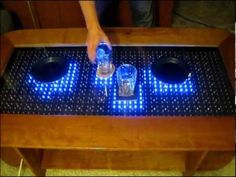Reactive LED Coffee Table - Arduino - YouTube