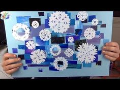 I colori freddi: collage del cielo inverno - YouTube Christmas Art Projects, Winter Art Projects, Winter Project, School Art Projects, Diy Projects To Try, Christmas Crafts, Diy And Crafts, Crafts For Kids, Arts And Crafts