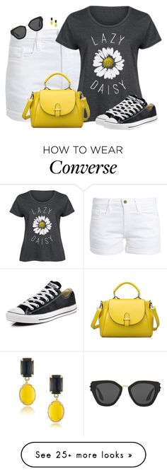"""Lazy Daisy Look"" by sherbear1974 on Polyvore featuring Frame, LC Trendz, Prada, Converse, 1st & Gorgeous by Carolee and plus size clothing"